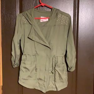 NWOT Justice Army Green Jacket